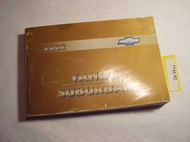 2002 chevrolet tahoe suburban owners manual 7742 92 cooters rh cootersautomanuals com 2002 chevrolet tahoe owner's manual 2007 Tahoe