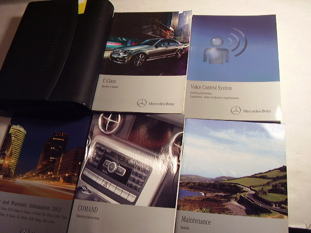 2012 Mercedes Benz C Class C-Class Owners Manual